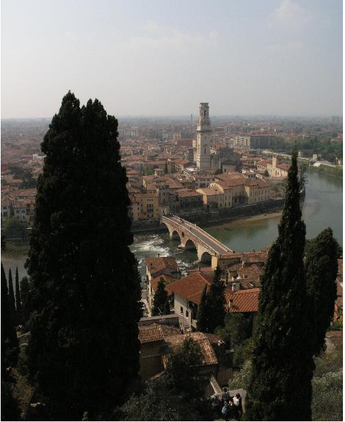 An afternoon view in Verona, Italy